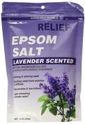Relief Md Epsom Salt - Lavender Scented, Natural Magnesium Sulphate Crystsals with Added Fragrance, 470ml