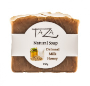Premium Taza Oatmeal Milk & Honey Natural Soap (Pack of 3) Each 160ml (150 g) ♦ Radiant Skin ♦ Contains