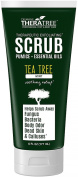 Tea Tree Oil Exfoliating Scrub with Activated Charcoal, Neem Oil & Natural Pumice. Remove Dead Skin & Bacteria that Acne, Foot & Body Odour, Athlete's Foot, & Fungus Love. Rough Dry Skin & Callous