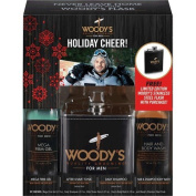 Woody's Quality Grooming For Men 2015 Holiday Cheer! Set With Limited Edition Flask