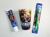 Avengers Toothbrush Bundle Toothpaste Cup Set Dental Hygiene Marvel