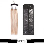 Neitsi® K.S WIGS Wooden Hair Extensions Storage Carrier - Suit Case Bag plus Hanger for Virgin Hair & Clip in Hair Extensions