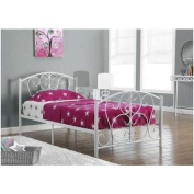 Monarch Specialties WHITE METAL TWIN SIZE BED FRAME ONLY - I 2390W