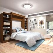 Bestar Versatile 290cm Queen Wall Bed in Tuscany Brown