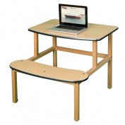 Student Desk in Maple and Green