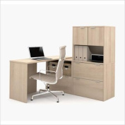 Bestar i3 L-Shaped Desk with Hutch and File Drawer