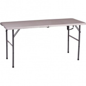 Folding Table, White, 120cm x 60cm x 70cm