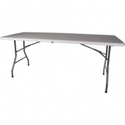 Folding Table, White, 70cm x 180cm x 70cm