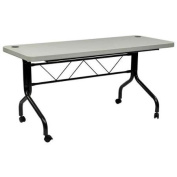 Work Smart 1.5m Resin Multi-Purpose Flip Table with Locking Casters, Grey