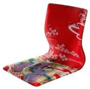Oriental Furniture Tatami Meditation Backrest Chair in Red