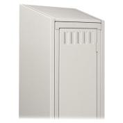 TENNSCO CORP. KST1218MGY Sloping Locker Top 1 Wide 12inWx18inD Medium Grey