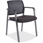 Lorell Stackable Guest Chair, Black