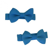 Set of 2 Mini Bow Clips for Babies or Toddlers on 4.4cm Hair Clip