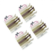 ColorBeBe - No-Crease, Soft and Stretchy Hair Ties - 20pcs (Blonde) Solid - HT-05