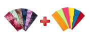 ColorBeBe 12 Cotton Yoga Headbands Assorted Marble & Solid Colour - Stretch Elastic Yoga Fashion Headband Sports Teams Headband Set Hair Wrap YH-002B