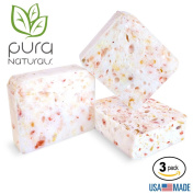 Pura Naturals Body Wash Sponge-Buffs with Stay Fresh Guarantee. All Natural Soap-Infused. Replace Exfoliant, Washcloth & Loofah. Lift Impurities & Cleanse. No Chemicals/Abrasives