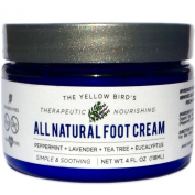 All Natural Antifungal Foot Cream. Moisturising Organic Relief for Dry Cracked Heels, Callused Feet, Athletes Foot. Best Therapeutic Grade Essential Oils