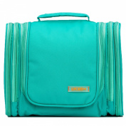 LYCEEM 5 Space Womens Hanging Toiletry Shower Bag Travel Organzier Dopp Kit Tiffany Green