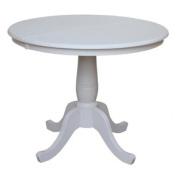 90cm Round Top Pedestal Table with 30cm Leaf, 80cm H