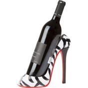 KitchInnovations Zebra Print High Heel 1 Bottle Tabletop Wine Rack
