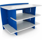 Legare Kids Furniture Race Car Series Collection Gaming Centre Stand, Blue and White