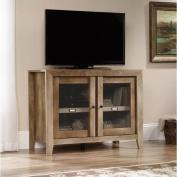 Sauder Woodworking 418268 Dakota Pass TV Stand Display Cabinet Craftsman Oak