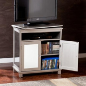 Southern Enterprises Reflection 70cm . Swivel Top TV/Media Stand - Silver