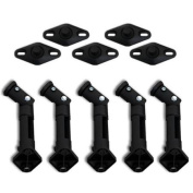 Seismic Audio 5 NEW BLACK Wall Speaker Home Surround Sound Mount BOSE Universal Stands - 5 Black Home Bose