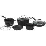 THE ROCK by Starfrit 8-Piece Cookware Set with Bakelite Handles