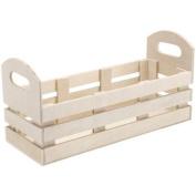 Unfinished Wood Jar Crate-