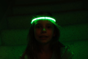 Glowby Bandz Light Strips for Headband, Wristband, Necklace, Anklet- White Strip Green LEDs