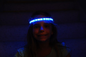 Glowby Bandz Light Strips for Headband, Wristband, Necklace, Anklet- White Strip Blue LEDs