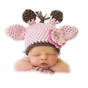 XMYM Newborn Handmade Antlers Cap Crochet Knitted Unisex Baby Cap Outfit Photo Props