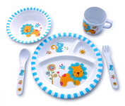 Culina Kids Melamine Dinnerware - Lion. Set of 5