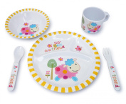 Culina Kids Melamine Dinnerware- Lamb. Set of 5