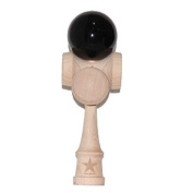 Super Kendama 5 Cups Black Shiny Ball And Extra String, Model