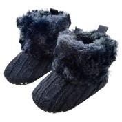 Sunward Toddler Baby Girls Knit Soft Fur Winter Warm Snow Boots Crib Shoes (11CM