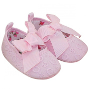 Aivtalk Infant Toddler Baby Girls Princess Ribbon Bowknot Soft Sole Prewalker Crib Shoes - Pink 11cm