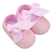Aivtalk Toddler Baby Girls Princess Bowknot Ribbon Soft Sole Prewalker Crib Shoes - Pink 11cm