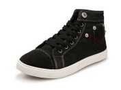 Tasny Casual Shoes High Top Fashion Black