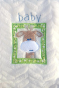 Snugly Baby Embroidered Giraffe Ultra Soft Blanket ~ Cream