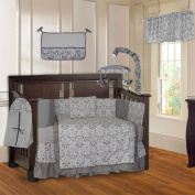 Grey Damask 10 Piece Baby Crib Bedding Set
