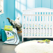 New Baby Neutral Safari Elephant 8pcs Crib Bedding Set with Bumper