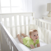 BreathableBaby Breathable Deluxe Embossed Mesh Crib Liner, Natural