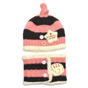 Malloom Lovely Toddler Winter Baby Super Soft Hat with Scarf 2 pcs Suit Earflap Knit Cap.
