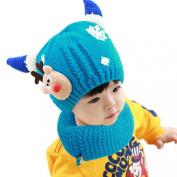 Malloom 2016 Kawaii Winter Toddler Baby Wool Hat Hooded Scarf Earflap Knit Cap