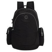 LCY Large Capacity Back Pack Nappy Bag Black