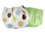 Pam Grace Creations 2 Piece Cloth Nappy, Polka Dots