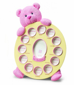 Russ Berrie My First Teddy First Year Frame, Pink