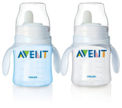 Philips Avent Bottle to First Cup Trainer 4 Months and Up - Blue/Clear